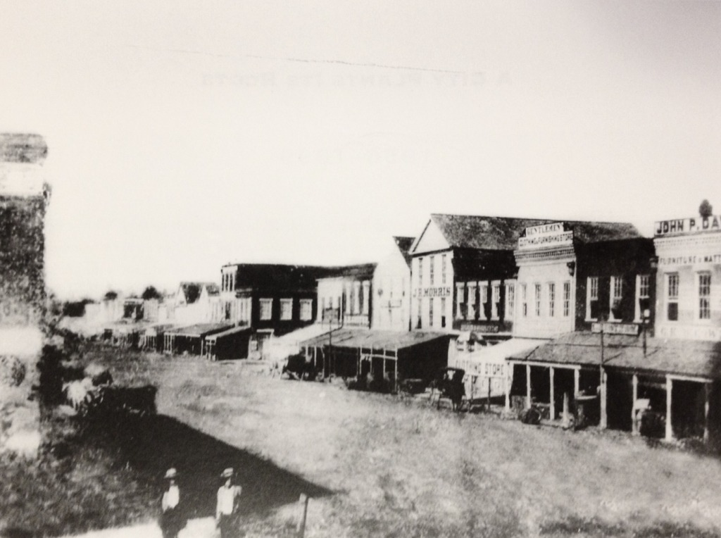 300 block of Main Street in 1856 (near Market Square)