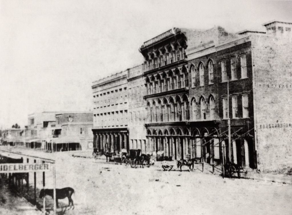 300 block of Main Street in 1866 (near Market Square)