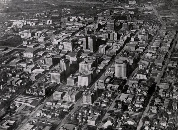 Downtown Houston in 1920