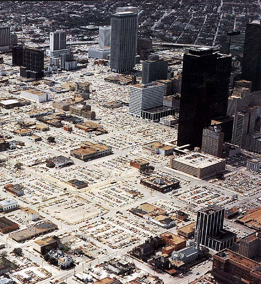 Downtown Houston in 1970s