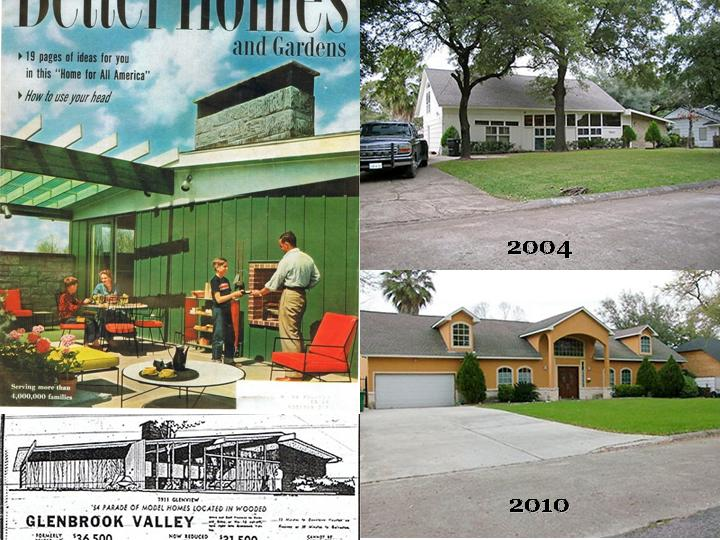 Same home in 1954, 2004, and 2010.  The destruction continues...